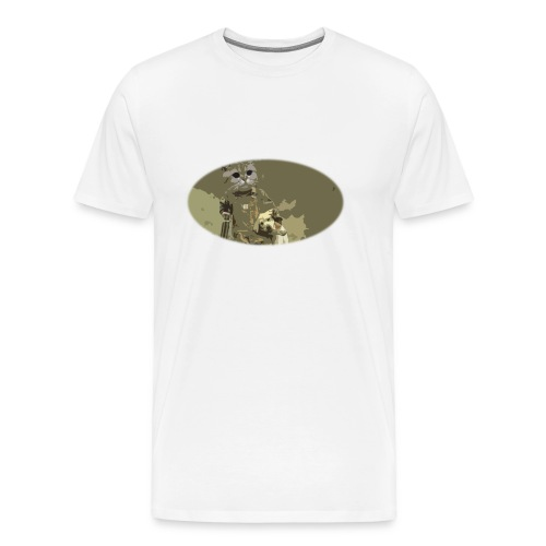 Cat hunting dogs - Premium T-skjorte for menn