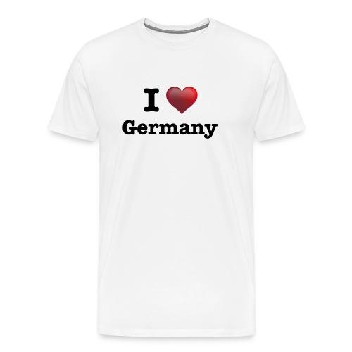 I Love Germany für echte Deutschland Fans - Männer Premium T-Shirt