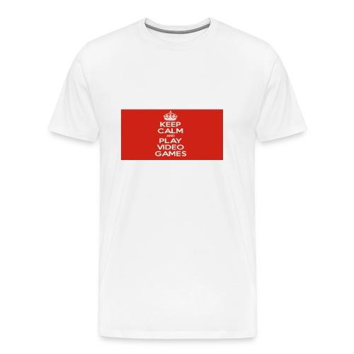 play does games - Premium T-skjorte for menn