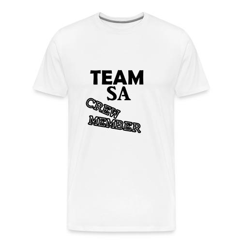 Team SA Crew Member Logo - Premium-T-shirt herr