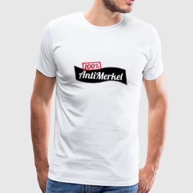 100% Antimerkel Danke Merkel Funshirt Geschenk - Männer Premium T-Shirt