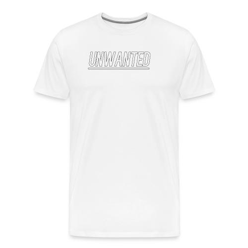 UNWANTED Logo Tee White - Men's Premium T-Shirt