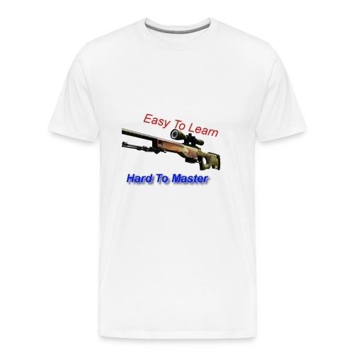 CSGO Awp Line - Adv1c3 - Mannen Premium T-shirt