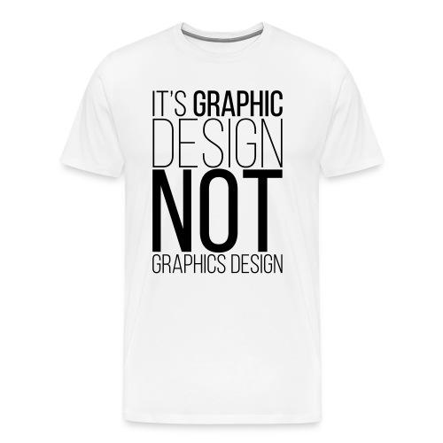 Graphic Design Humour Punny T-Shirt - Men's Premium T-Shirt