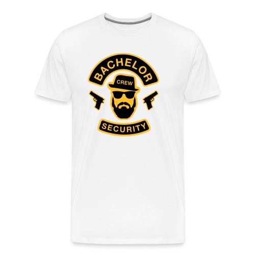 Bachelor Security - JGA T-Shirt - Bräutigam Shirt - Männer Premium T-Shirt