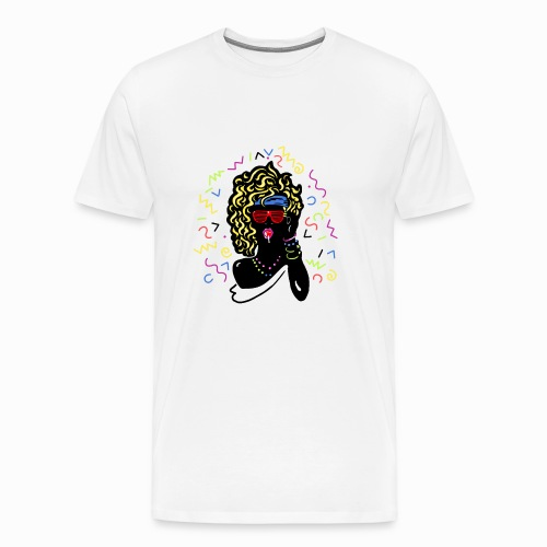 80s-girl - Men's Premium T-Shirt