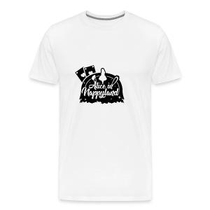 Alice in Nappyland TypographyWhite with background - Men's Premium T-Shirt