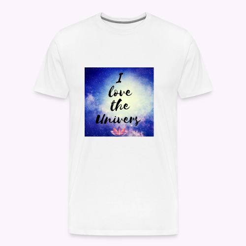 I love the Univers - Männer Premium T-Shirt