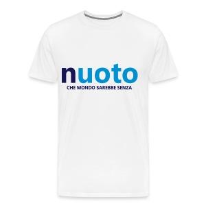 NUOTO - CHE MONDO SAREBBE - Maglietta Premium da uomo