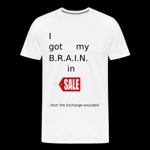 Brain in Sale - Männer Premium T-Shirt