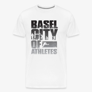 Basel City of Athletes B/W - Männer Premium T-Shirt