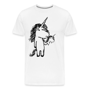 Kaede the unicorn and his friend angry - Men's Premium T-Shirt