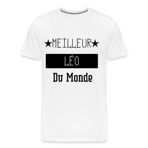 Meilleur Léo du Monde - T-shirt Premium Homme
