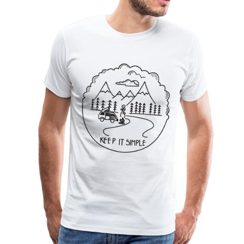 Keep it Simple Clouds Camping Trailer - Männer Premium T-Shirt