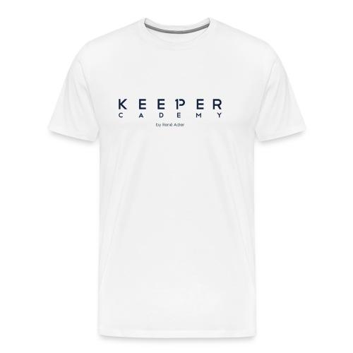 KeeperCademy Schriftzug by René Adler Schriftzug - Männer Premium T-Shirt