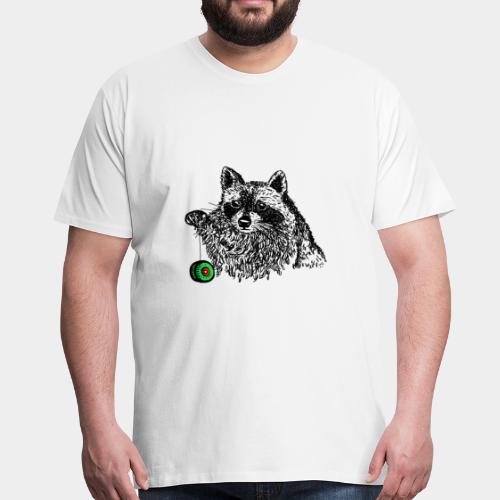 Waschbär - Männer Premium T-Shirt