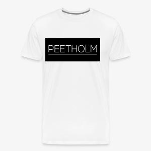 Peetholm - Black logo - Herre premium T-shirt