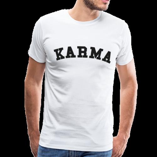Karma Motiv Schriftzug College Geschenk Idee - Männer Premium T-Shirt
