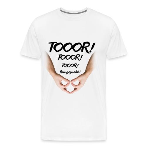Tor Reingeguckt - Männer Premium T-Shirt