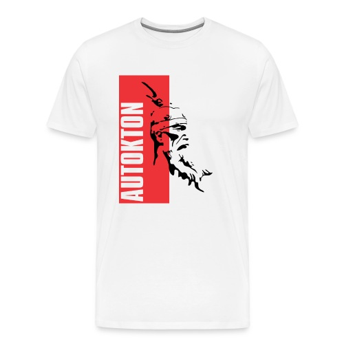 Das Autochthone Volk mit Nationalheld Skanderbeg - Männer Premium T-Shirt