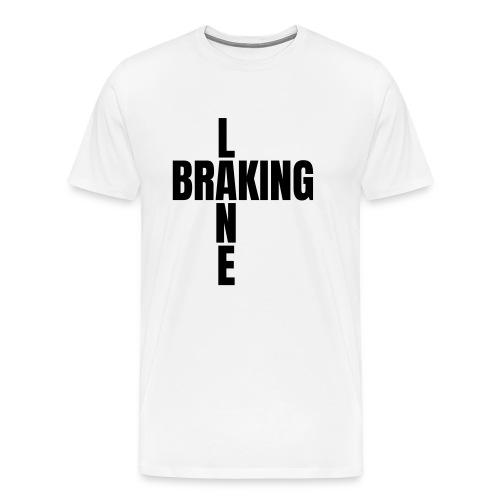 Braking Lane white - Männer Premium T-Shirt