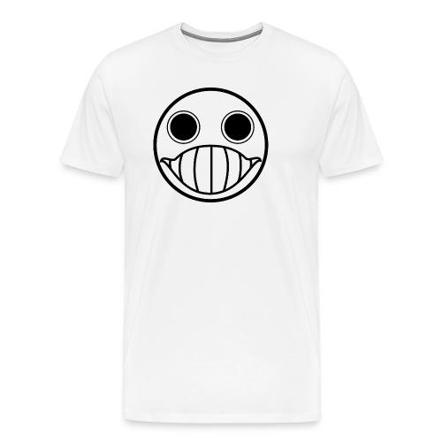 Crazy Cringe Smiley (Schwartz) - Männer Premium T-Shirt