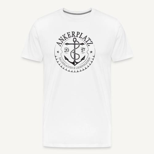 Ankerplatz schwarz - Männer Premium T-Shirt