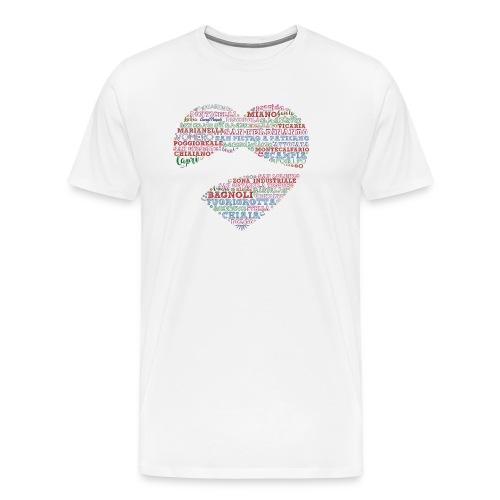 I Luoghi di Napoli di CuordiNapoli - Maglietta Premium da uomo