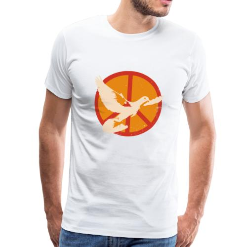 Peace Taube - Männer Premium T-Shirt