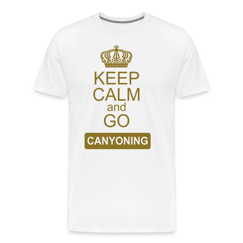 keep calm and go canyoning 2 - Männer Premium T-Shirt