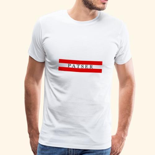 PATSER RODE GESTREEPTE - Mannen Premium T-shirt