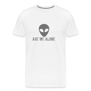 Are we alone logo - Men's Premium T-Shirt