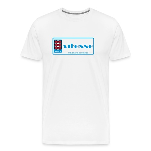Monaco plate 1977 VITESSE vintage retro - Camiseta premium hombre