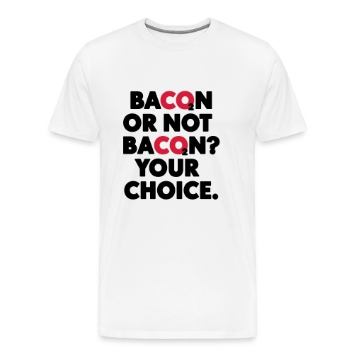 Bacon or not bacon - Premium-T-shirt herr