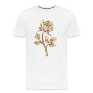 Rose 3D gold - Männer Premium T-Shirt