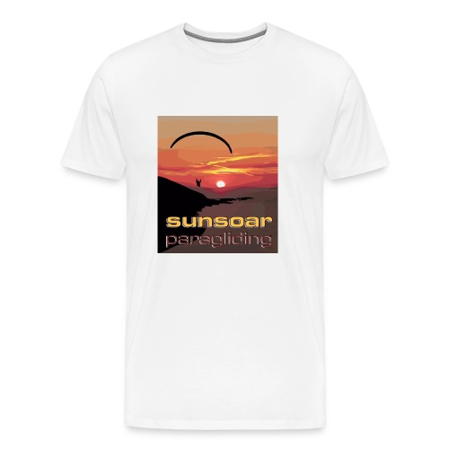 sunset flying - Men's Premium T-Shirt