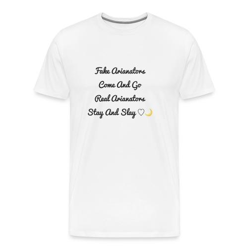 arianators stay and slay - Men's Premium T-Shirt