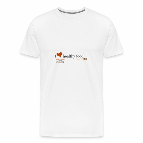 I love healthy food - Camiseta premium hombre