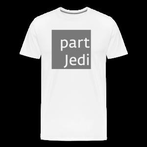part Jedi white on 50%grey - Männer Premium T-Shirt