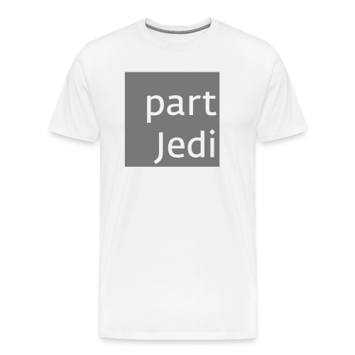 part Jedi white on 50%grey - Männer Premium T-Shirt