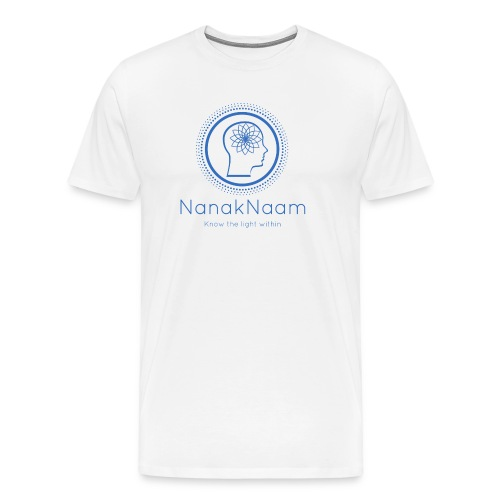 Nanak Naam Logo and Name - Blue - Men's Premium T-Shirt