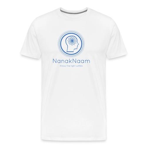 Nanak Naam Logo and Name - Blue - Men's Premium T-Shirt