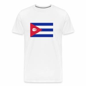 Cubaanse vlag met orisha schelp - geen wit - Mannen Premium T-shirt