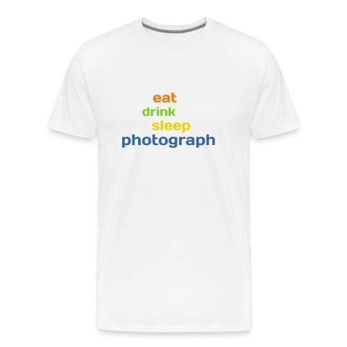 eat drink sleep photograph - Männer Premium T-Shirt