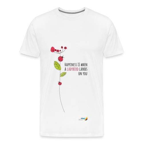 Ladybird Women's T-Shirt - white and ecru - Men's Premium T-Shirt