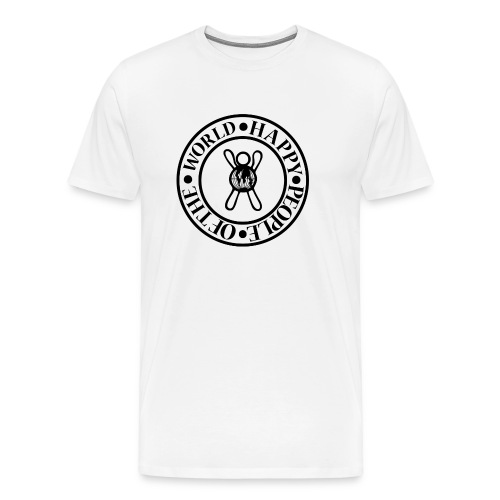 Happy People Circle - Mannen Premium T-shirt