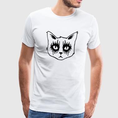 Gato negro de metal - Camiseta premium hombre