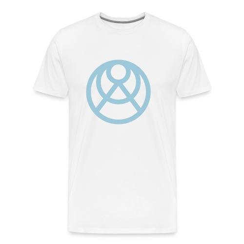 Faråkra symbol blå - Premium-T-shirt herr