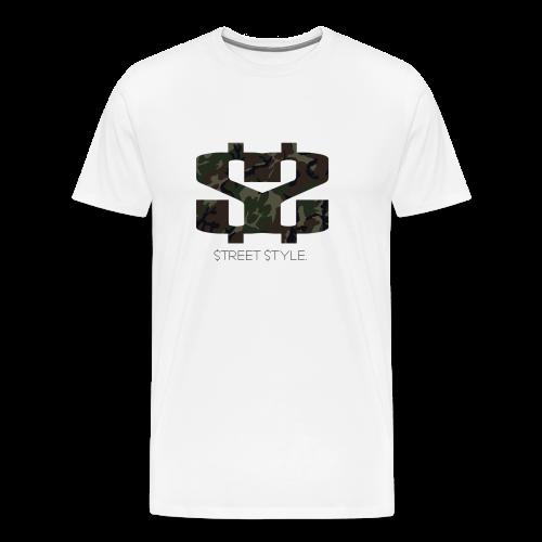 $$ CAMO LOGO - Premium-T-shirt herr