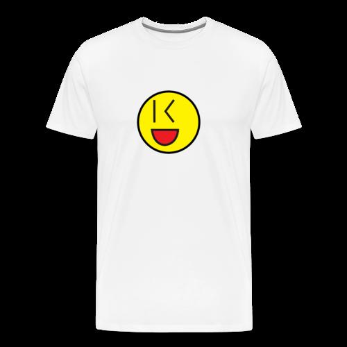 Cool Wink Smiley Hoodie - Men's Premium T-Shirt